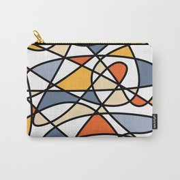 Abstract Waves Of Colors Carry-All Pouch