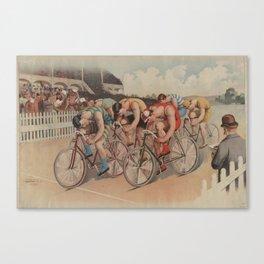 Vintage Cycling Race Illustration (1895) Canvas Print