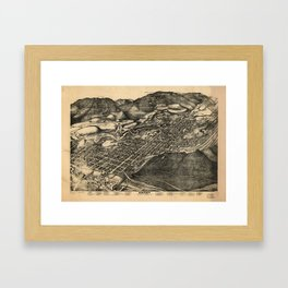 Bird's Eye View of Aspen, Colorado (1893) Framed Art Print