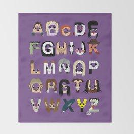 Horror Icon Alphabet Throw Blanket