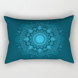 Blue Mandala #4 Rectangular Pillow