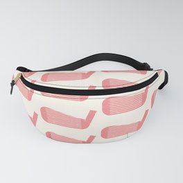 Golf Club Head Vintage Pattern (Beige/Pink) Fanny Pack