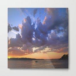 Sunset on the Niagara river Metal Print