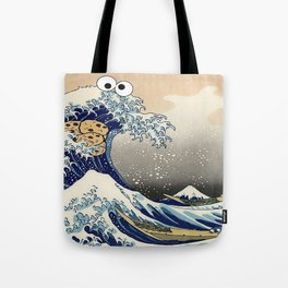 Great Wave off Kanagawa purple T-Shirt Tote Bag