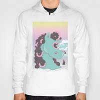 sea horse Hoodies featuring SEA HORSE by MujerCiervo