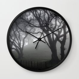 A Misty Monday Morning Wall Clock
