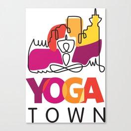 Yoga Town  Canvas Print