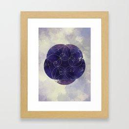 Spirals of Sapphire Framed Art Print