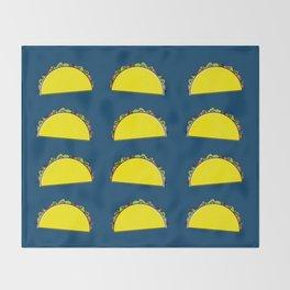 omg tacos! on navy Throw Blanket