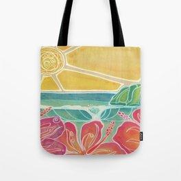 Triple Hibiscus Surf Art by Lauren Tannehill Art Tote Bag