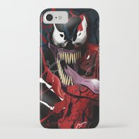 carnage iPhone & iPod Cases featuring Maximum Carnage by JHC Studio