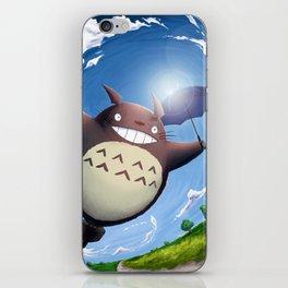 Totoro Summer Flight iPhone Skin