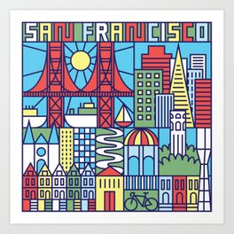 San Francisco, California Art Print