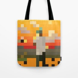 Scum Pixel Flower Boy Tote Bag