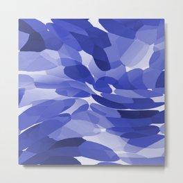 Abstract Leaves and Petals - Blue Colors  #decor #society6 #buyart Metal Print