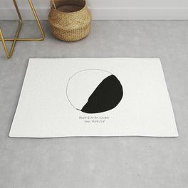 Black and White Cookie New York Rug
