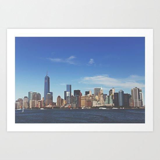 Manhattan Skyline Art Print
