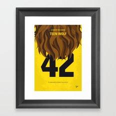 No607 My Teen Wolf minimal movie poster Framed Art Print
