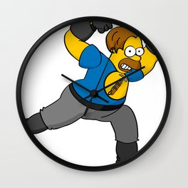 Captain Hammer Time Wall Clock