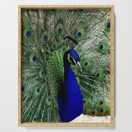 Proud Peacock Serving Tray
