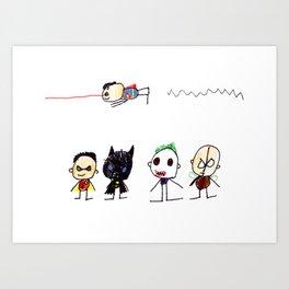 Superheroes and Villains Art Print
