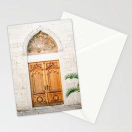 The wooden door of Sibenik Croatia | Fine art travel front door photography print | Pastel tones Stationery Cards