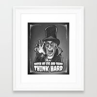 """alisa burke Framed Art Prints featuring Professor Edward C. Burke from """"London After Midnight"""" by Andysocial Industries"""