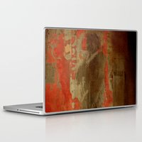 battlefield Laptop & iPad Skins featuring 最後の戦士  (The Last Warrior on the Battlefield) by Fernando Vieira