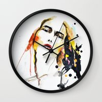 grateful dead Wall Clocks featuring Grateful by Mitra Art