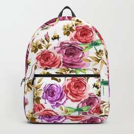Insects and Flowers Backpack