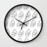 milk Wall Clocks featuring milk by sharon