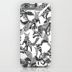woodland fox party black white iPhone 6s Slim Case
