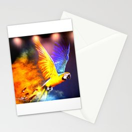 Macaw in flight Stationery Cards