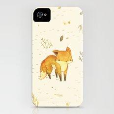 Lonely Winter Fox Slim Case iPhone (4, 4s)