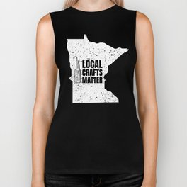Minnesota Drink Local gift Gift for MN Craft Beer Drinkers, Drink Local, Brewing Gift for Brewers Biker Tank