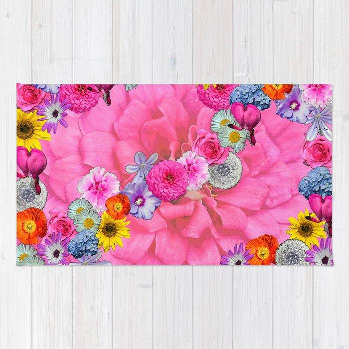Flower power pink Rug