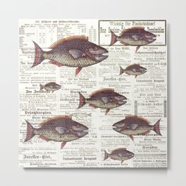 fish against the current Metal Print
