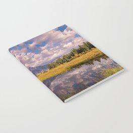 The Grand Tetons Autumn OLena Art Fall Colors Photography Notebook