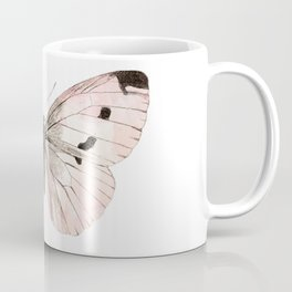 Butterfly flutter - soft peach Coffee Mug
