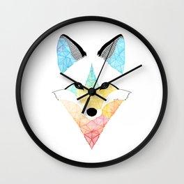 Fox multicolor Wall Clock