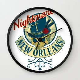 Nightmare in New Orleans Wall Clock
