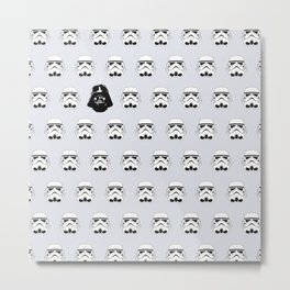 Troopers and Vader Metal Print