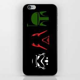 Star Wars Silhouettes Black iPhone Skin