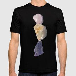Healing and Serenity - Crystals, Rose Quartz, Amethyst, Quartz T-shirt