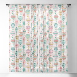 Hot Air Balloons Sheer Curtain
