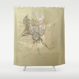 50 Shades of lace Gold Gold Shower Curtain