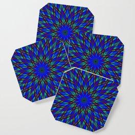 Stained glass flower mandala Coaster