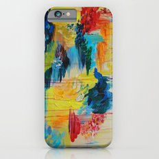 VANCOUVER RAIN - Stunning Rainbow Colorful Bold bright Rain Clouds Stormy Day Wow Abstract Painting iPhone 6s Slim Case