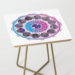 Starlight Zodiac Wheel Side Table