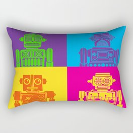 Vintage Tin Toy Robots Rectangular Pillow